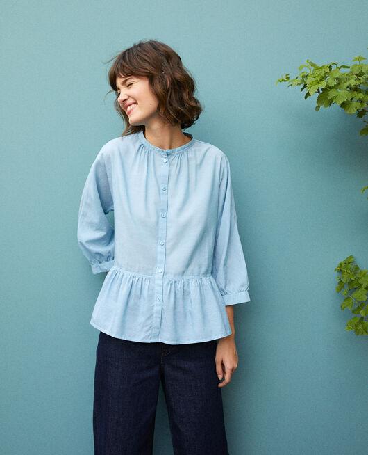 Peplum blouse ADRIATIC BLUE