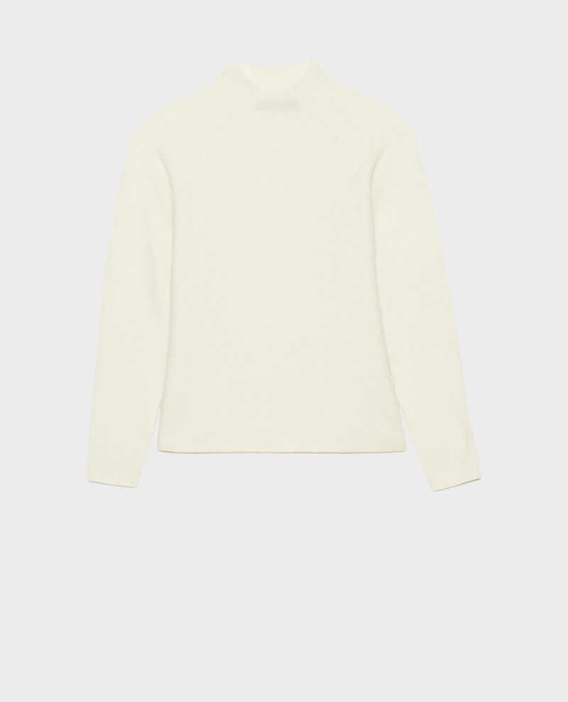 Loose 3D cashmere turtleneck jumper. Jet stream Manduel