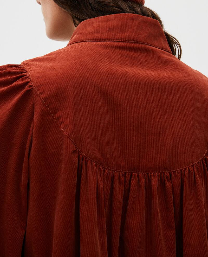 Corduroy yoke smock dress  Brandy brown Marcheville