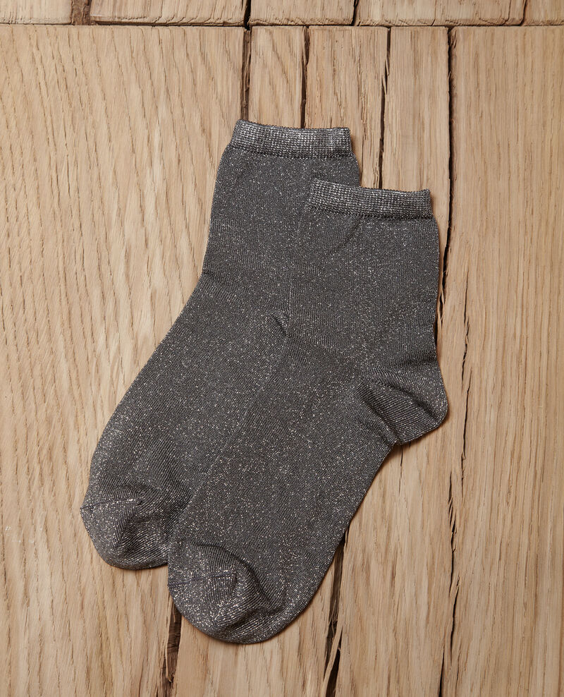 Lurex blend socks Grey Gaussette