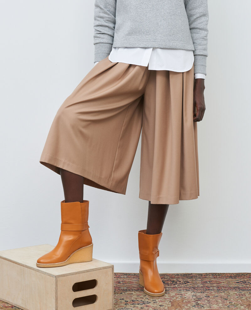 BABETH - Pleated wool and cashmere culottes Amphora Marby