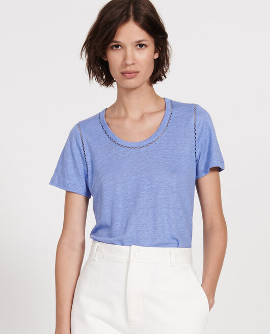 Linen T-shirt PERSIAN JEWEL