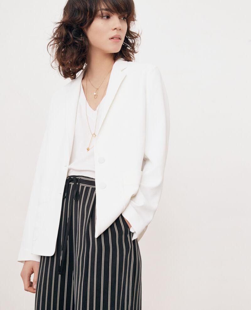 Crepe jacket Blanc Fociba