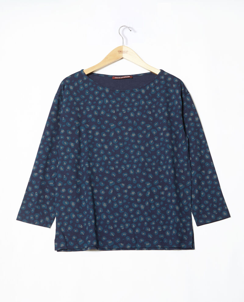 Round neck t-shirt Blue Gleopardo