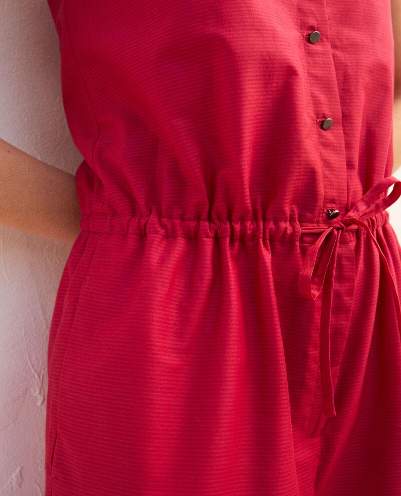 Cotton jumpsuit with spaghetti straps Fushia Iocrocodile