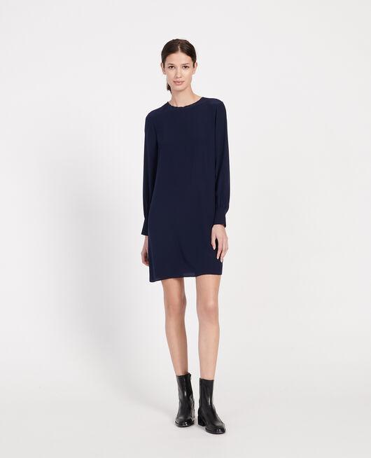 Silk dress MARITIME BLUE