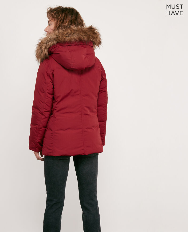 Down jacket with removable faux fur trim Devil Dasual