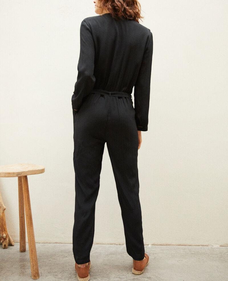 Jumpsuit with lace Noir Guigen
