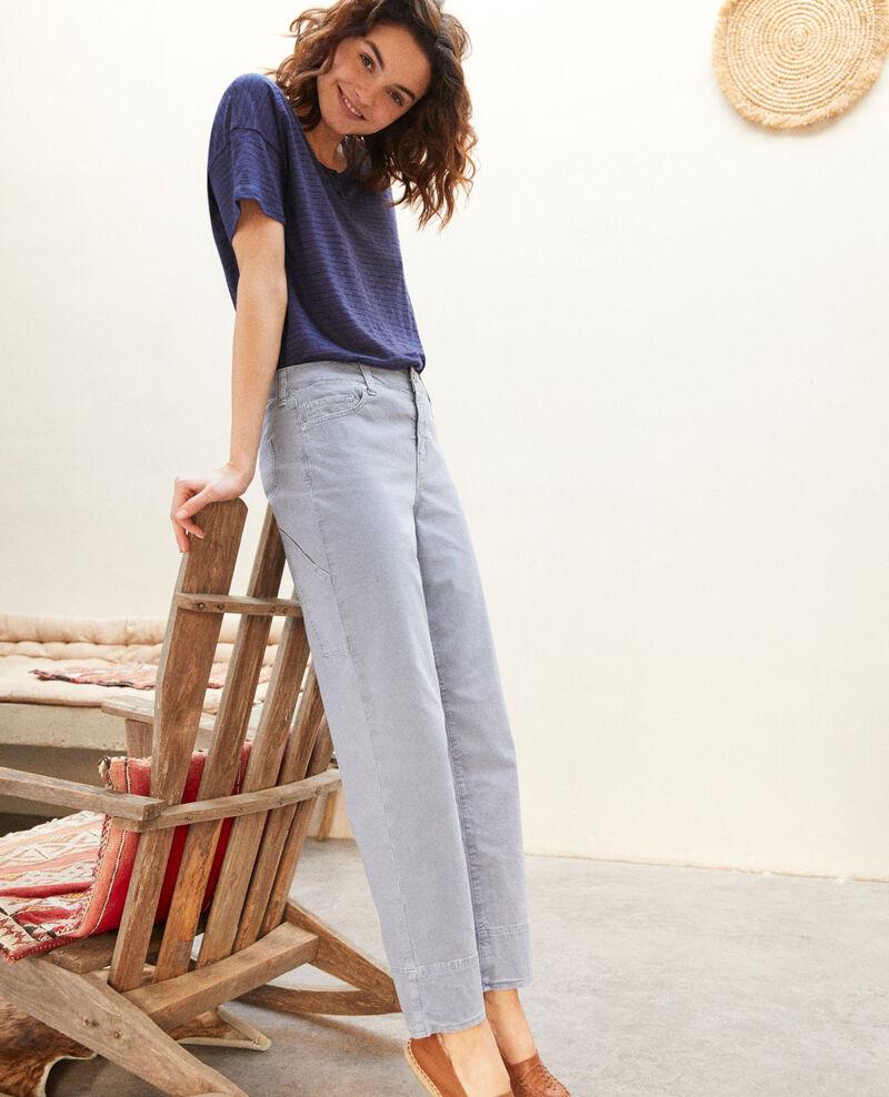 Straight jeans Ribbon blue Irtenga