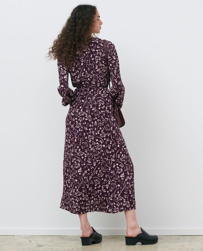 Printed maxi dress Cyanotype purple Pavish