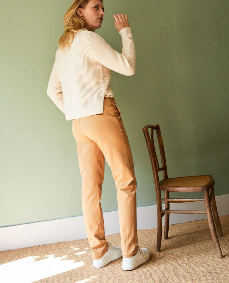 Straight-leg trousers Iced coffee Jino