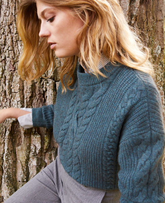 Cable-knit jumper SCARAB
