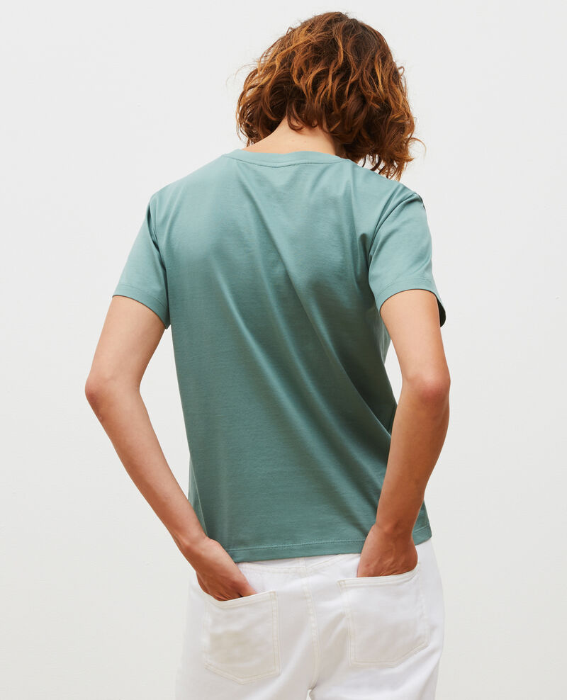 Round neck cotton t-shirt Treillis Lirous