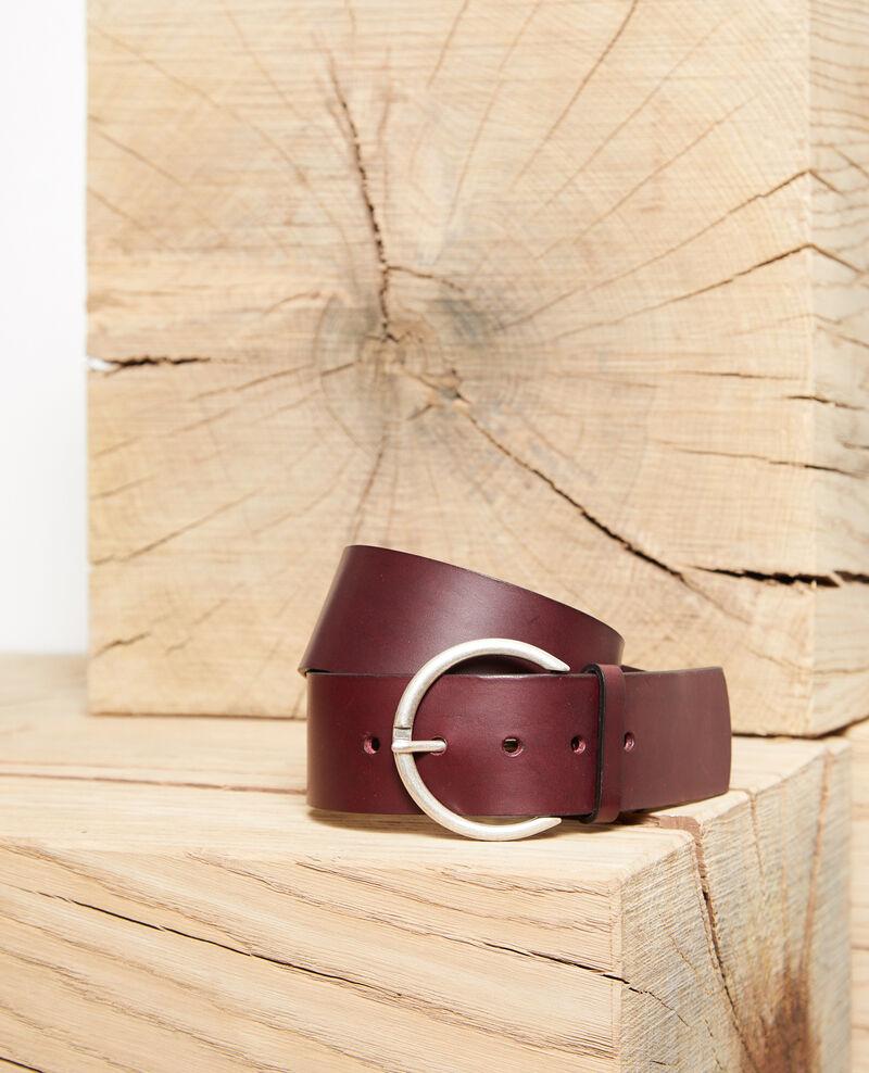 Leather belt Decadente chocolate Garge