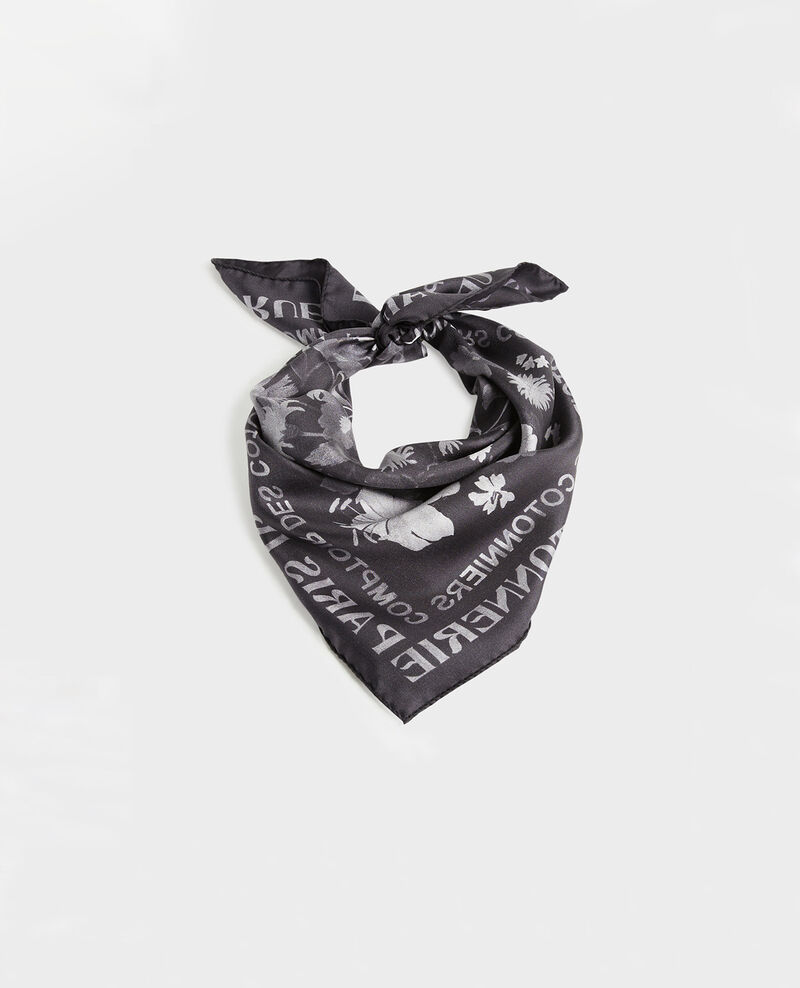 Square silk scarf Black beauty Maraiche