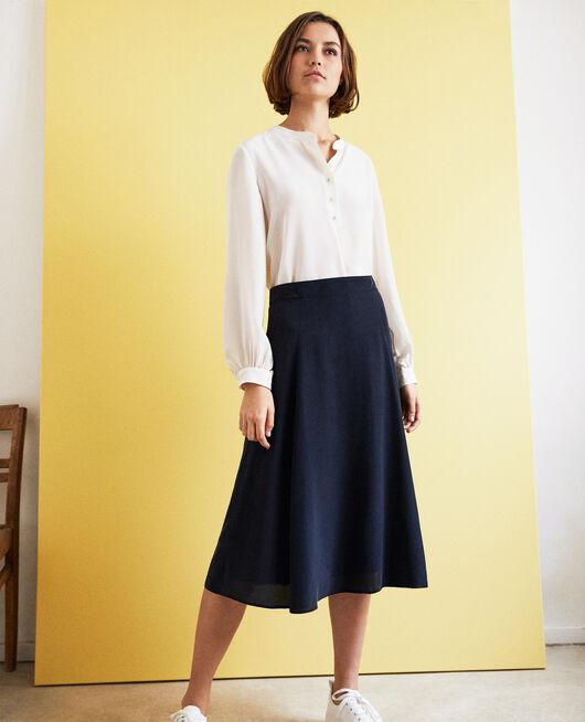 High-waist skirt Bleu marine