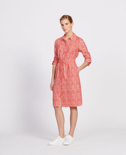Dress FEUILLAGE FIERY RED