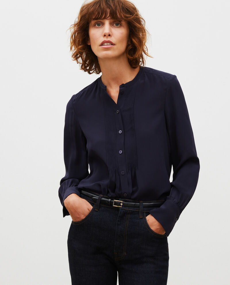 Loose long-sleeve silk shirt Night sky Marboua