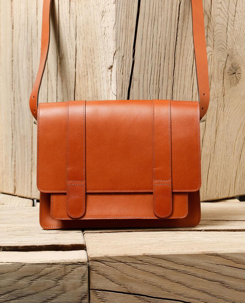 Smooth leather bag, large model Brown Gartable