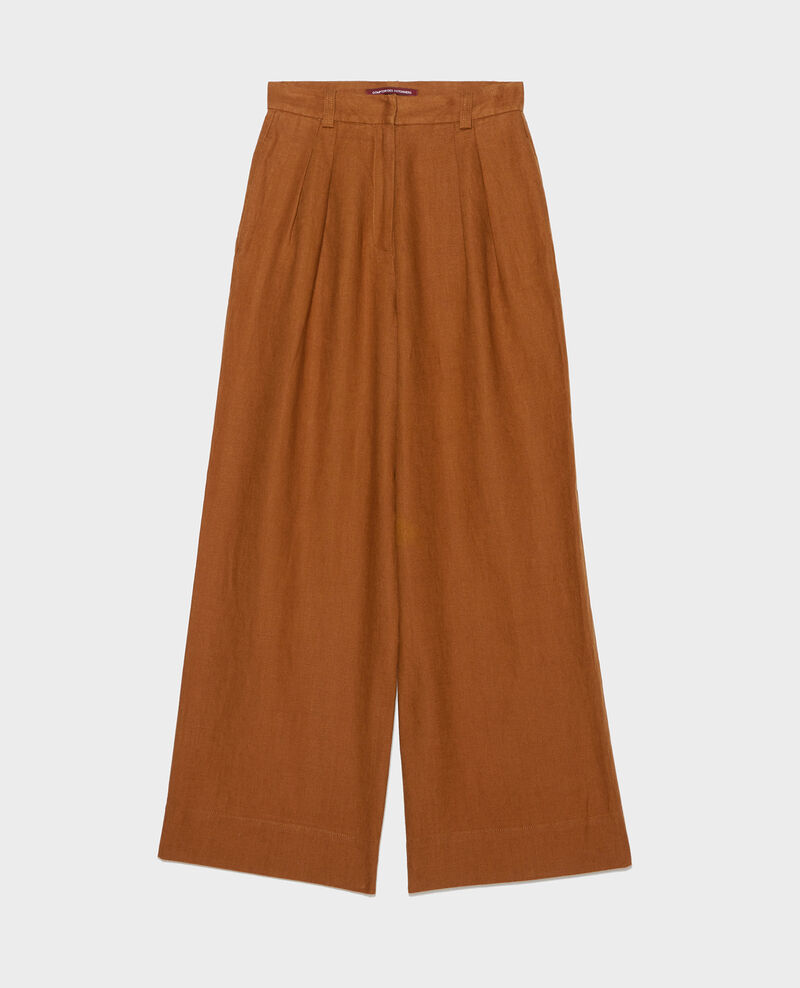Linen high-waisted trousers YVONNE Monks robe Lafare