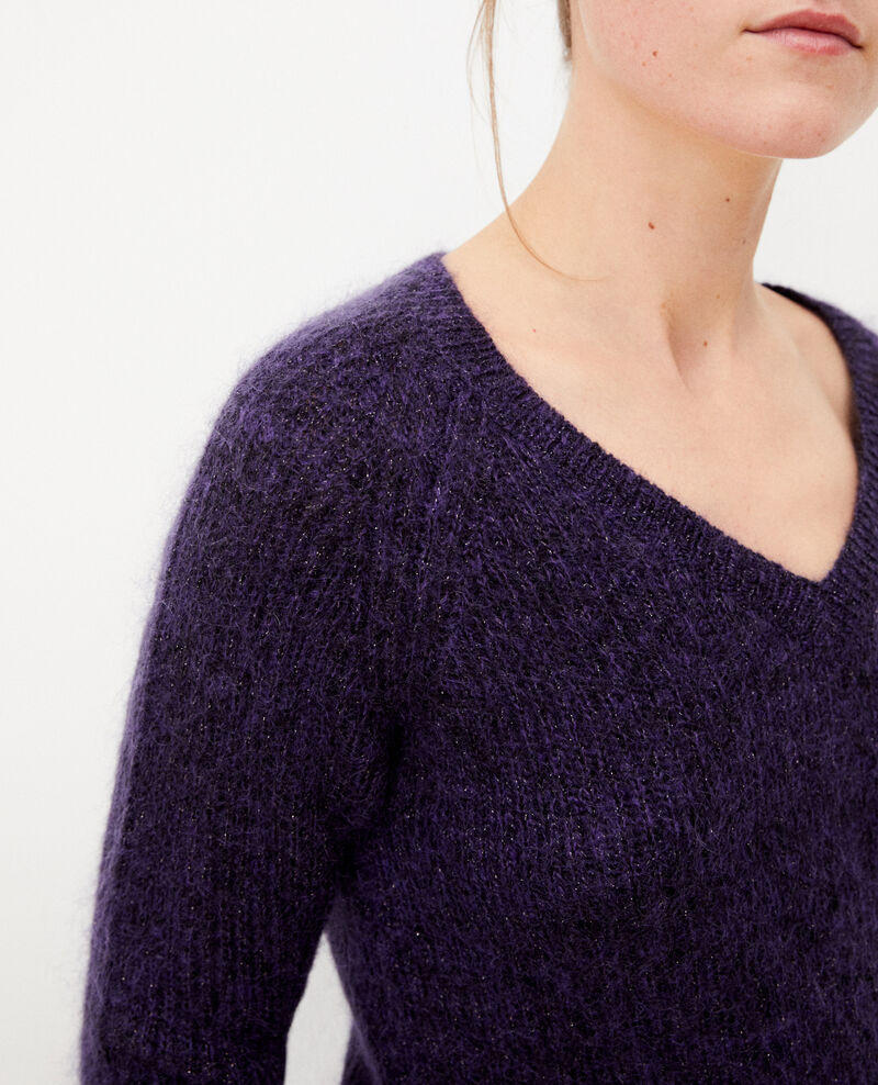 Jumper with mohair and lurex Purple Getoile