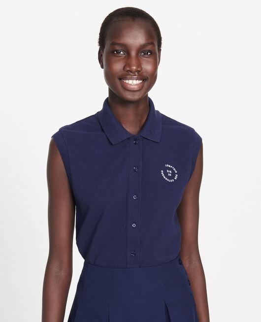 Cotton polo shirt MARITIME BLUE