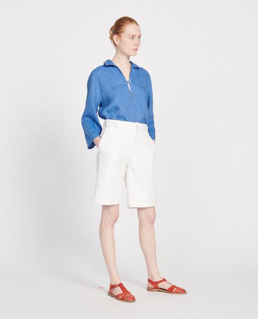 Cotton canvas bermuda shorts OPTICAL WHITE