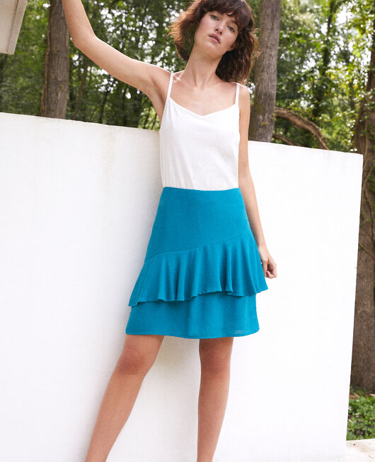 Short, frilly skirt Green