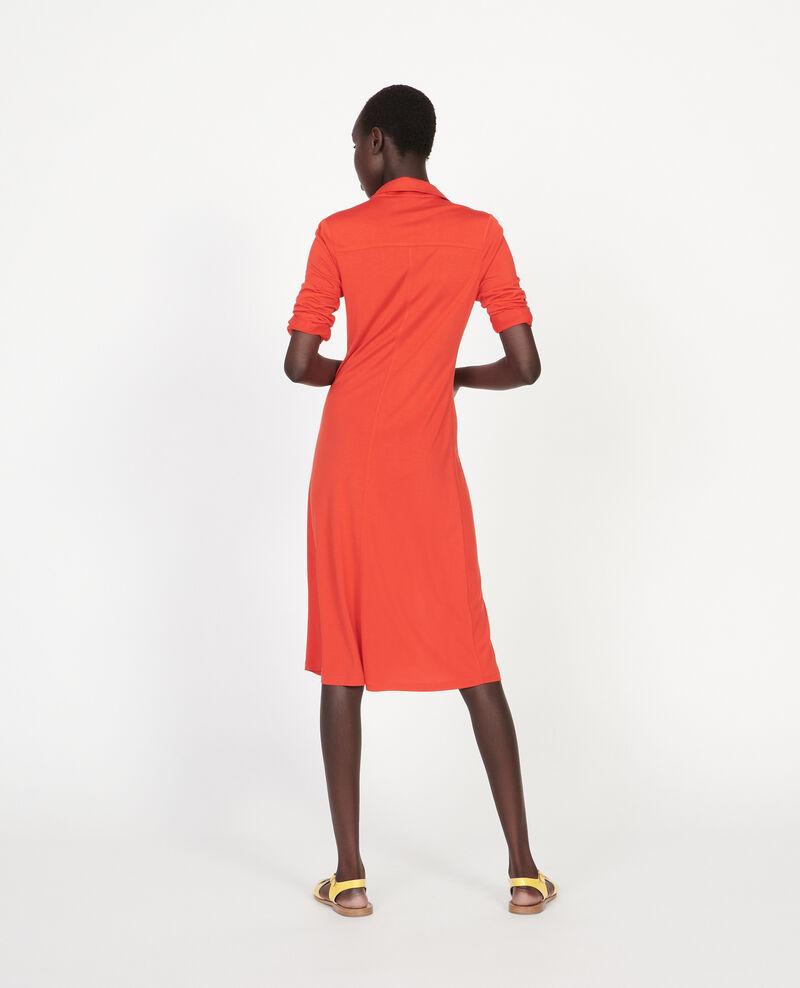 Silk jersey dress Fiery red Lulia
