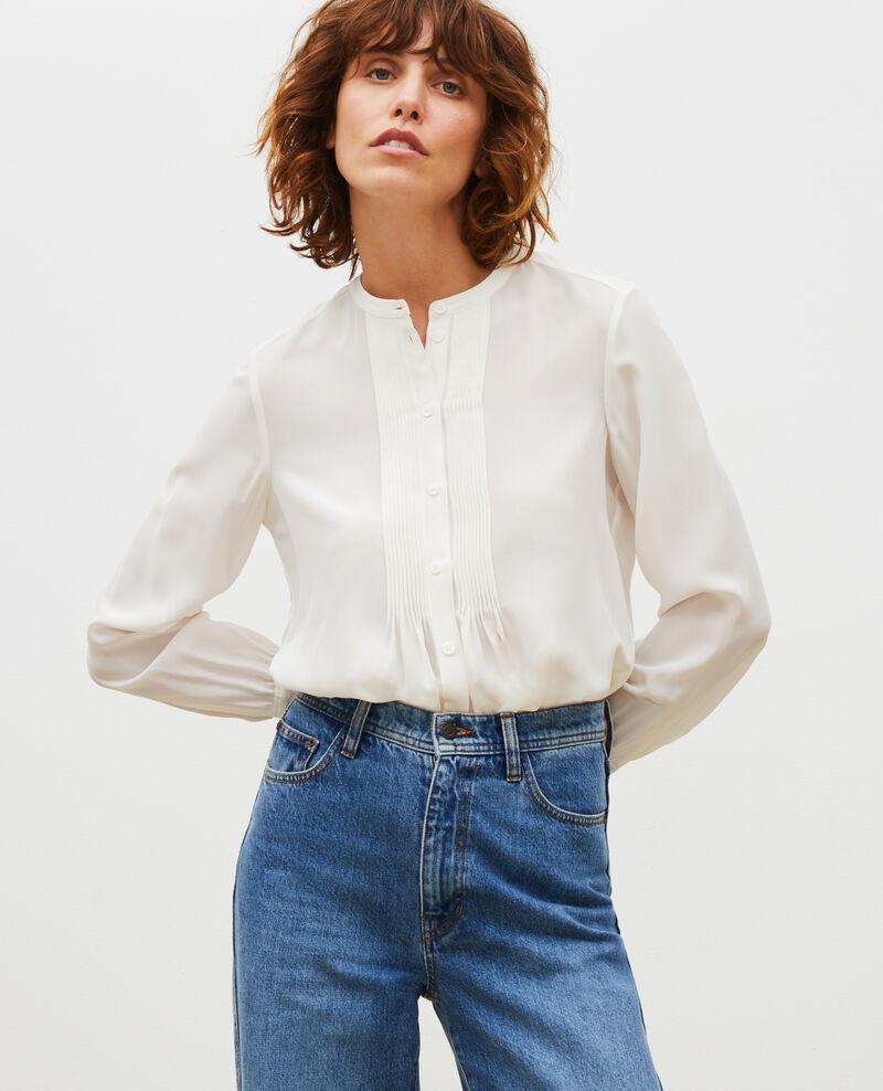 Loose long-sleeve silk shirt Jet stream Marboua