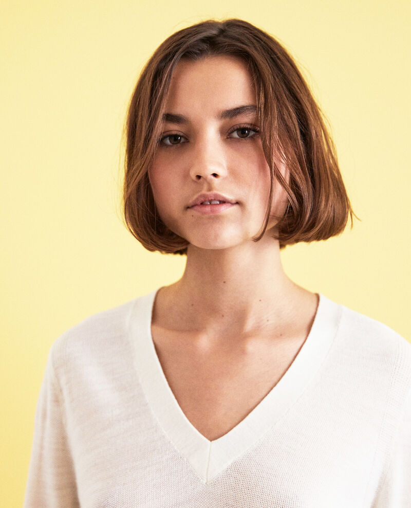 Wool jumper Blanc Idile