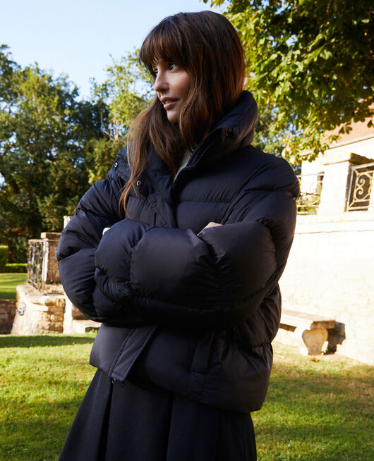 Oversize padded jacket NOIR
