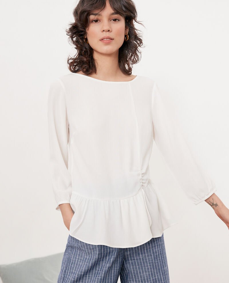 Blouse with round collar White Fontaine