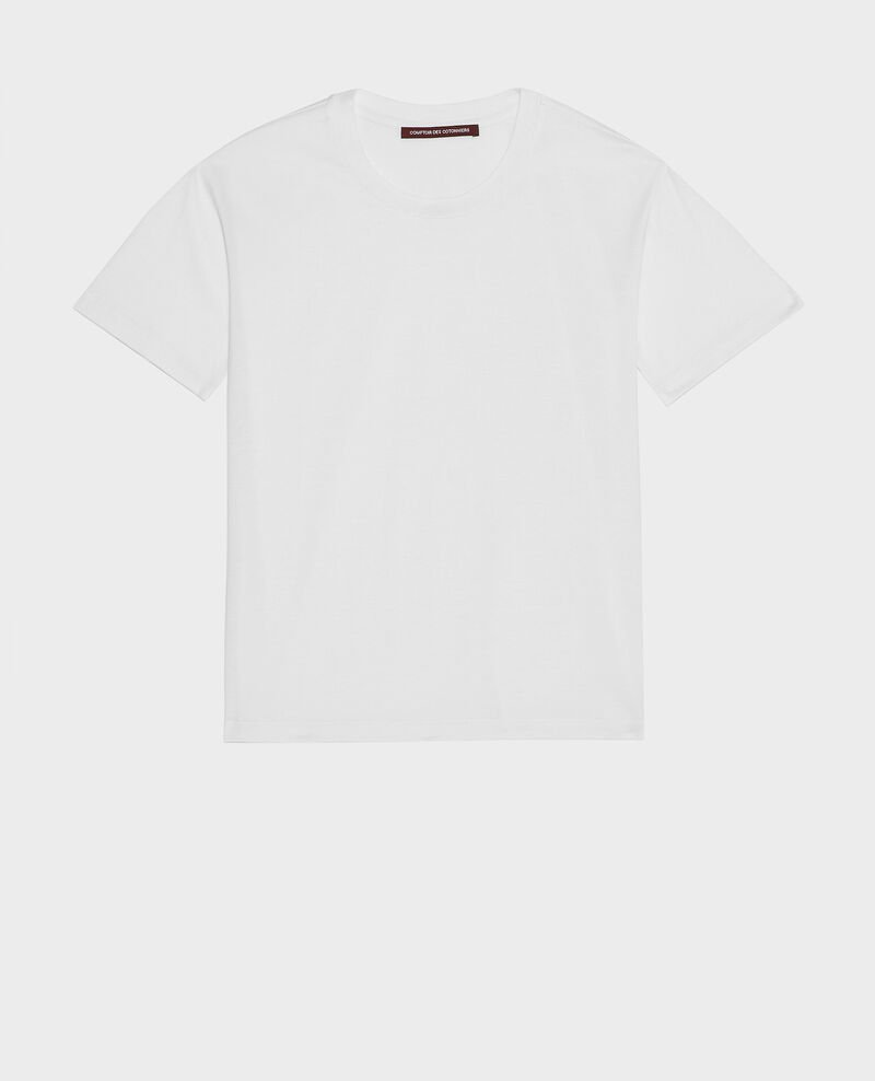 Round neck cotton t-shirt Optical white Lirous