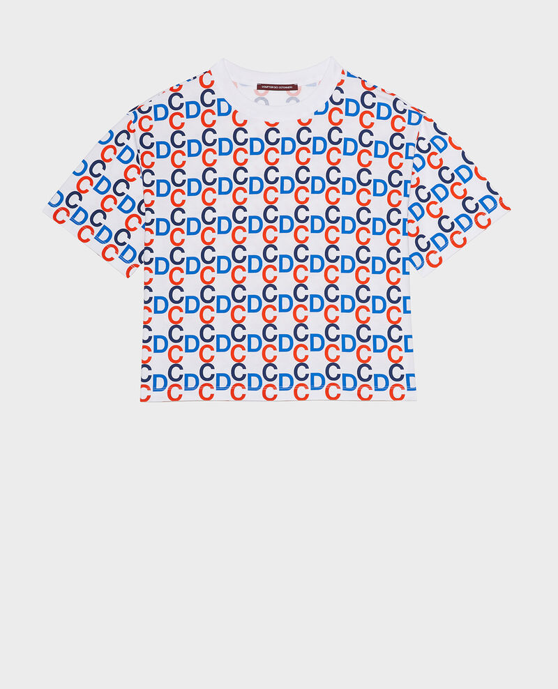 Cotton T-shirt Optical white Lenoy