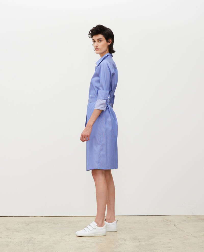 Cotton belted shirt dress Blue as proto Mezeres