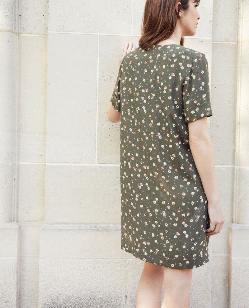 Dress with removable bow Coquelicot cheng olive 9iolande