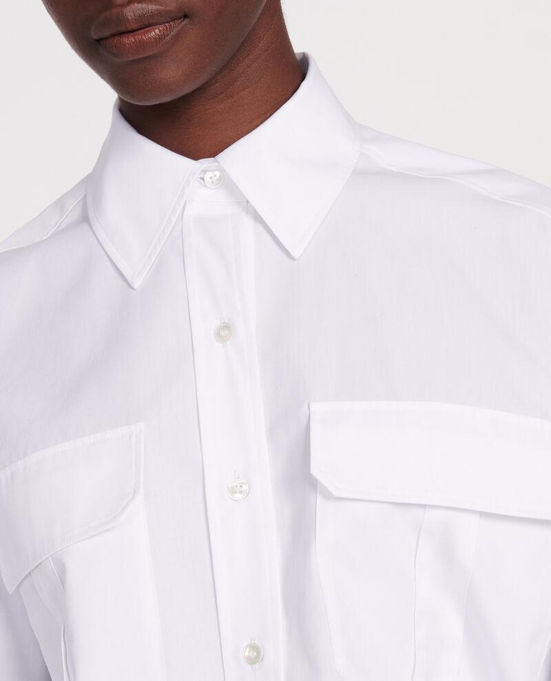 Cotton poplin shirt Optical white Lauryl