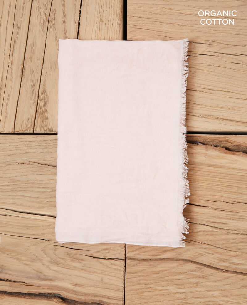 Organic cotton scarf Light pink Geste