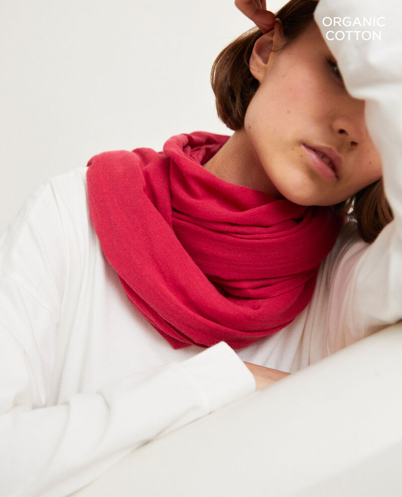 Organic cotton scarf Fushia Geste