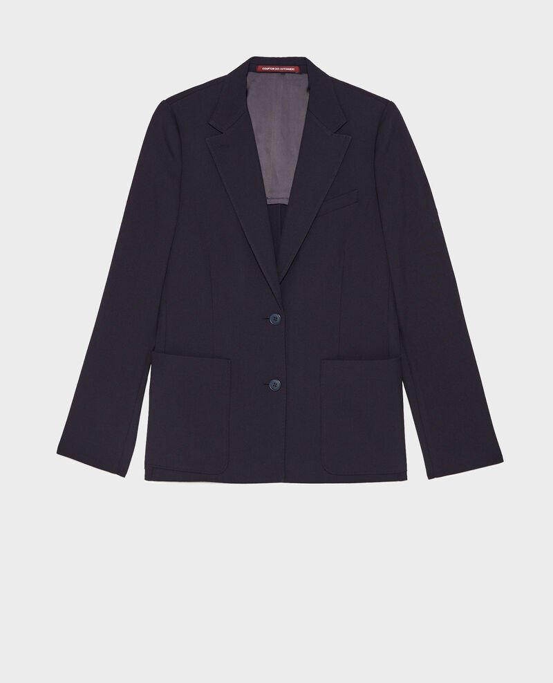 Fitted wool boyfriend blazer Night sky Mesanger
