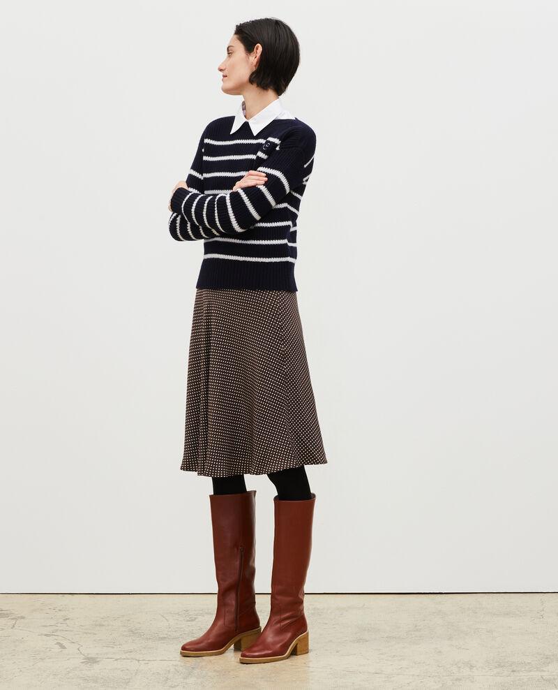 Silk skater skirt Little pois coffee bean Margireste