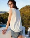 3D cotton vest Off white Iranka