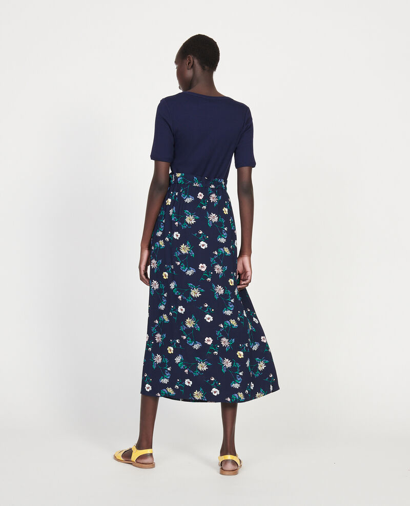 High-waist skirt Herbier maritime maize Lustar
