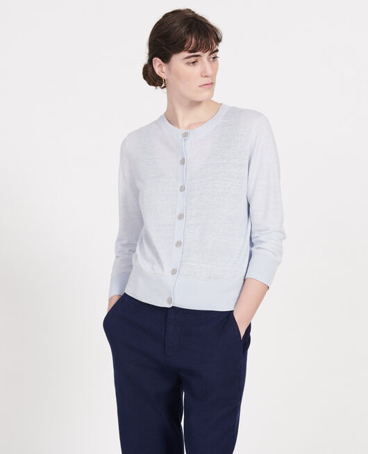 Linen cardigan HEATHER