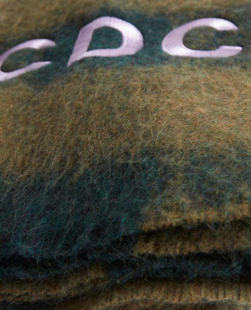 """CDC"" embroidered wool XXL scarf Rain forest Maxou"