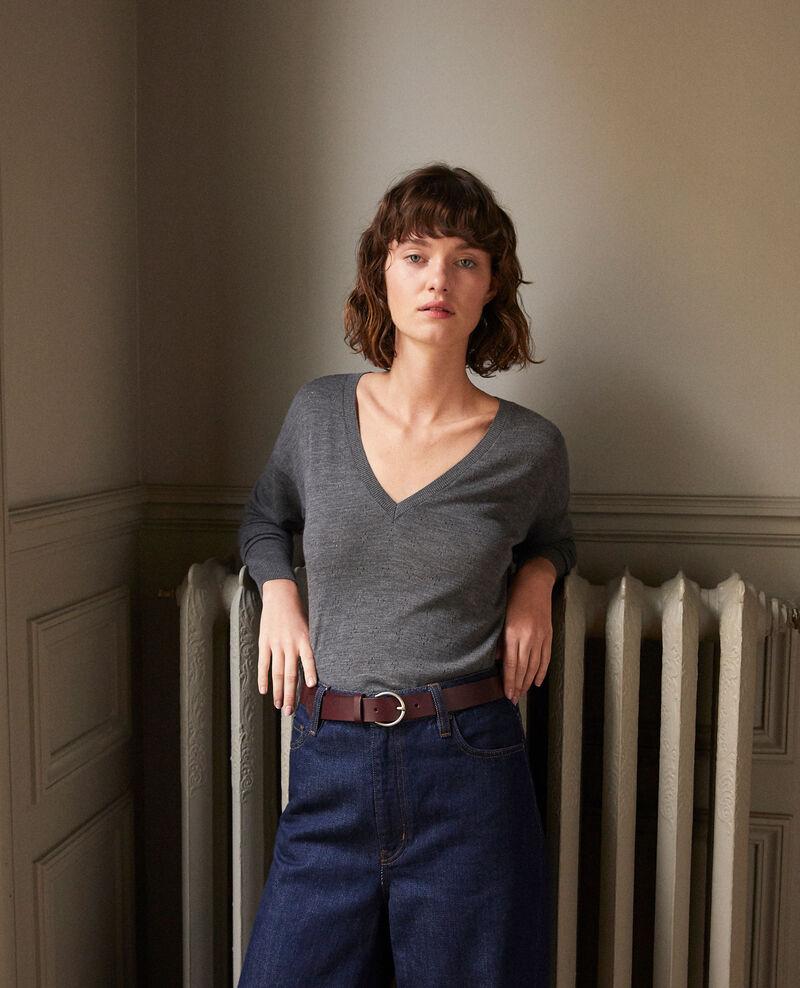 Merino wool jumper Grey Garago