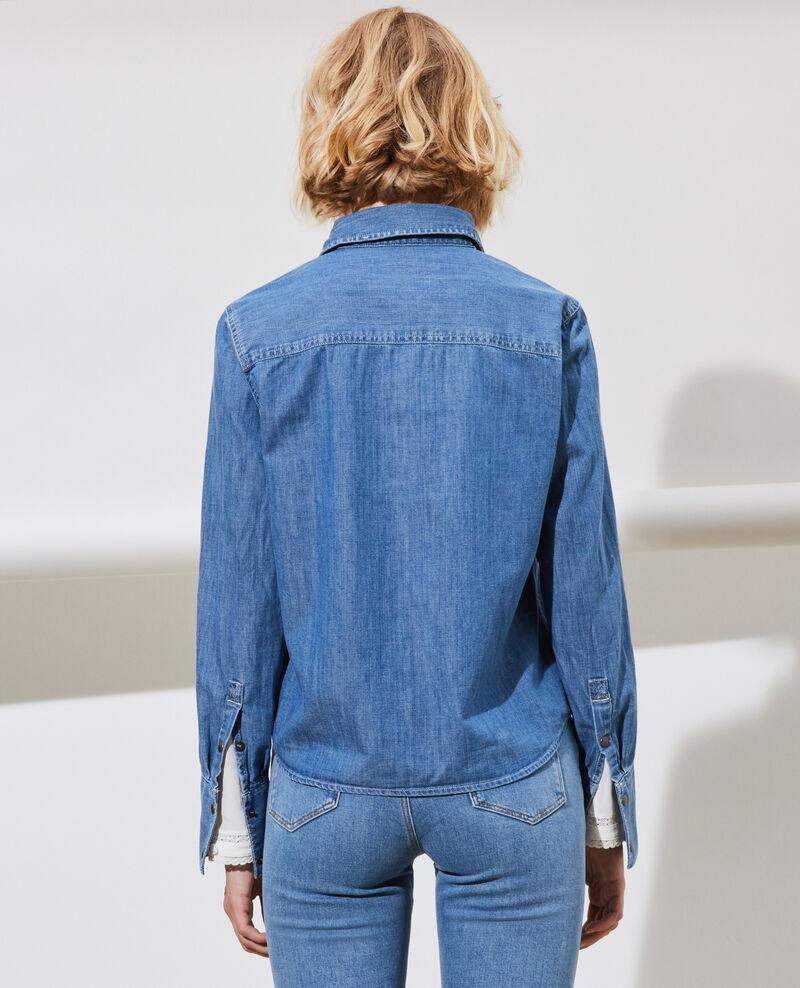 Denim shirt with pockets Denim medium wash Nadigna