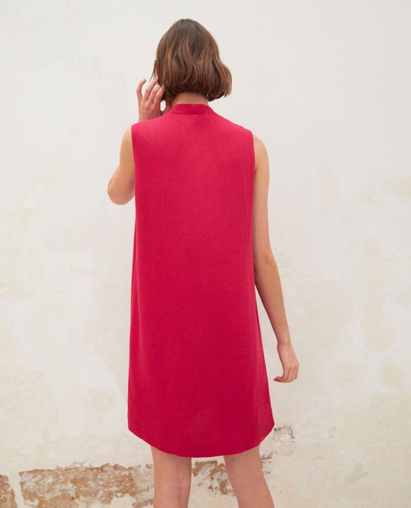 Dress with removable tie Fushia Iolandi