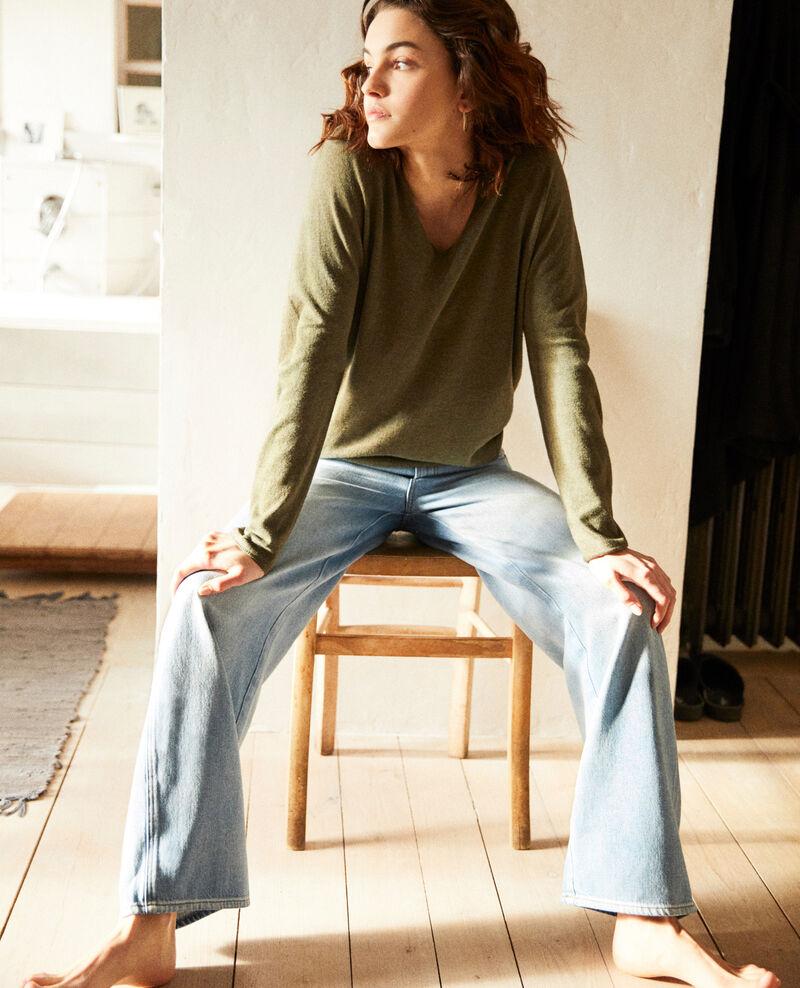 Cashmere blend jumper Cheng olive Imouna